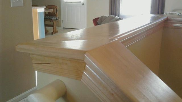 Wood Stair Cap