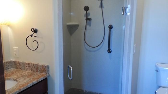 Tile Wrapped Bathroom