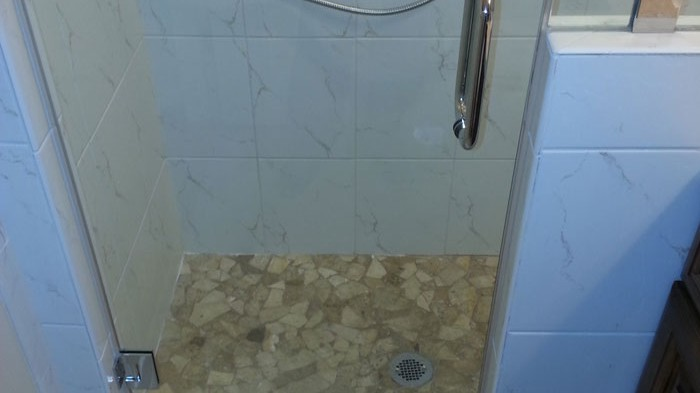 Tile Wrapped Bathroom