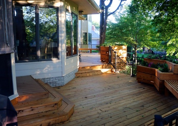 Deck, Flower Boxes, and Railings